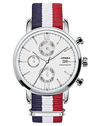 cheap -SINOBI Men's Wrist Watch Quartz Water Resistant / Waterproof Stainless Steel Blue Analog - Blue / Calendar / date / day / Chronograph