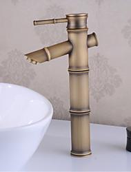 cheap -Bathroom Sink Faucet - Waterfall Antique Brass Centerset Single Handle One HoleBath Taps
