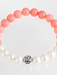 cheap -New Arrival Nature Stone Rose Strand Bracelets Daily / Casual 1pc Hot Sale