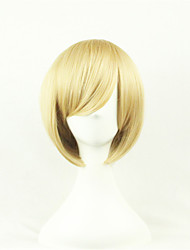 cheap -Cosplay Costume Wig Synthetic Wig Cosplay Wig Straight Straight Asymmetrical Wig Blonde Short Blonde Synthetic Hair Women's Natural Hairline Blonde