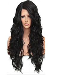 cheap -Human Hair Unprocessed Human Hair Glueless Full Lace Full Lace Wig style Brazilian Hair Loose Wave Wig 130% Density with Baby Hair Natural Hairline African American Wig 100% Hand Tied Women's Short