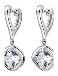 cheap -Women's Drop Earrings Hoop Earrings - Sterling Silver, Silver Birthstones Silver For Wedding Party Daily