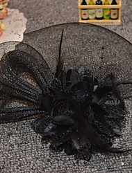 cheap -Women's Ladies Vintage Party Romantic Feather Mesh Alloy Fascinators Wedding Party
