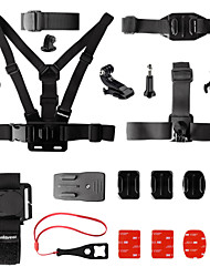 cheap -Chest Harness Front Mounting Wrist Strap All in One 15 pcs For Action Camera Gopro 6 Gopro 5 Xiaomi Camera Gopro 4 Gopro 4 Silver Surfing Ski / Snowboard Universal / Gopro 2 / Gopro 3 / Gopro 3+