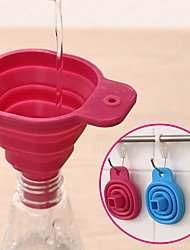 cheap -Silicone Foldable Funnel Cute Collapsible Style