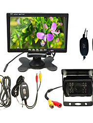cheap -7 inch Monitor 170 Degree Wired Night Vision Car Rear Camera Kit for Bus / Truck(10m Cable Included,No Screen Sharing)