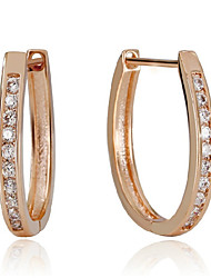 cheap -Women's Hoop Earrings - Sterling Silver, Silver Birthstones Silver / Rose For Wedding Party Daily