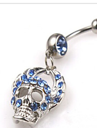 cheap -Navel Ring / Belly Piercing Personalized Women's Body Jewelry For Party Daily Stainless Steel Alloy Skull Memento Mori Silver