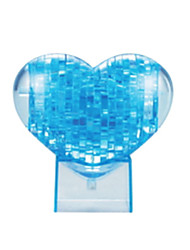 cheap -Jigsaw Puzzles 3D Puzzles / Crystal Puzzles Building Blocks DIY Toys Heart-Shaped ABS Blue Model & Building Toy