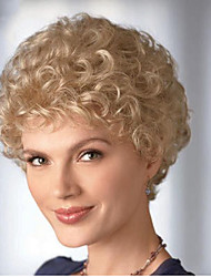 cheap -Synthetic Wig Curly Curly Wig Blonde Short Blonde Synthetic Hair 6 inch Women's Blonde