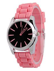 cheap -Women's Fashion Watch Quartz Silicone Black / Pink Analog Casual - Black Pink