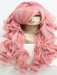 cheap -high quality pink cosplay wig with ponytail super long wavy animated synthetic hair wigs woman s wigs party wigs Halloween