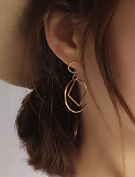 cheap -Women's Stud Earrings Geometrical Ladies European Simple Style Fashion Earrings Jewelry Silver / Golden For Party Daily Casual