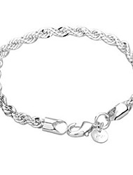 cheap -Women's Chain Bracelet Wrap Bracelet Fashion Copper Bracelet Jewelry Silver For Daily Casual / Silver Plated