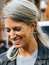 cheap -Women's Stud Earrings Hoop Earrings Statement Ladies European Fashion Earrings Jewelry Silver / Golden For Party Daily Casual