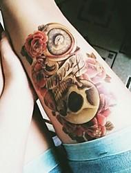 cheap -body-art-beauty-makeup-pink-sexy-dangerous-sexy-skull-tattoo-3d-waterproof-temporary-tattoo-stickers-sexy