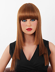 cheap -Human Hair Wig Classic kinky Straight kinky straight Classic Capless Dark Brown / Dark Auburn Beige Blonde / Bleach Blonde Auburn Brown / Bleach Blonde 22 inch Daily