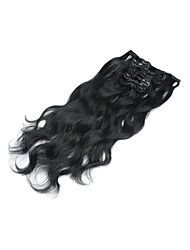 cheap -Clip In Human Hair Extensions Body Wave Virgin Human Hair Human Hair Extensions Women's Strawberry Blonde