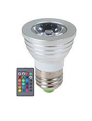 cheap -YWXLIGHT® 2.5 W LED Spotlight 270 lm E14 GU10 E26 / E27 1 LED Beads High Power LED Dimmable Remote-Controlled RGB 85-265 V / 1 pc