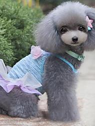 cheap -Sexy Lace Flowers Pet Dress