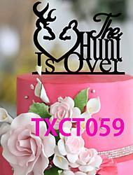 Недорогие -Украшения для торта Классика Монограмма Акрил Свадьба с 1 pcs Пенополиуретан