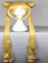 cheap -Cosplay Costume Wig Synthetic Wig Water Wave Water Wave Wig Blonde Very Long Blonde Yellow Synthetic Hair Women's Blonde Yellow hairjoy