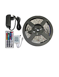 cheap -5m Flexible LED Light Strips / Light Sets / RGB Strip Lights 150 LEDs 5050 SMD 10mm RGB Remote Control / RC / Cuttable / Dimmable 12 V / Linkable / Self-adhesive / Color-Changing / IP44