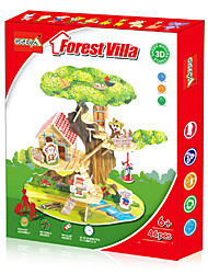 cheap -3D Puzzle Paper Model Model Building Kit Wooden Model House compatible Plastic Legoing Boys' Girls' Toy Gift / Kid's