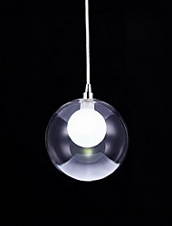 cheap -1-Light 20cm Crystal Pendant Light Metal Glass Globe Electroplated Modern Contemporary 110-120V / 220-240V