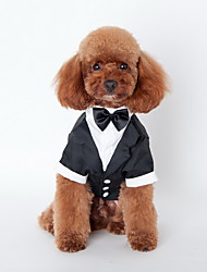 cheap -Dog Necklace Shirt Puppy Clothes British Holiday Wedding Dog Clothes Puppy Clothes Dog Outfits Costume for Girl and Boy Dog Terylene Cotton S M L XL XXL