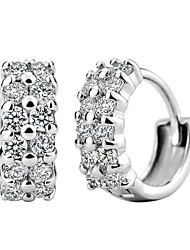 cheap -Women's Cubic Zirconia Stud Earrings Sterling Silver Cubic Zirconia Earrings Jewelry Silver For Wedding Party Daily Casual