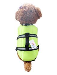 cheap -Dog Vest Life Vest Puppy Clothes Waterproof Dog Clothes Puppy Clothes Dog Outfits Waterproof Orange Green Costume for Girl and Boy Dog Nylon XXS XS S M