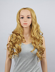 cheap -Synthetic Lace Front Wig Wavy Wavy Lace Front Wig Blonde Synthetic Hair Women's Blonde Light Brown