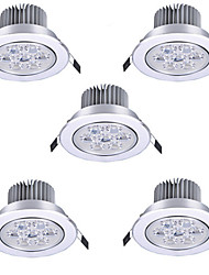 cheap -5pcs 7 W LED Spotlight LED Ceilling Light Recessed Downlight 7 LED Beads High Power LED Decorative Warm White Cold White 85-265 V / RoHS / 90