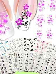 Недорогие -50шт для ногтей наклейки искусства передачи воды 50 различных ПК / комплект цветок дизайн ногтей наклейки-ню упаковка