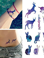 cheap -disposable-waterproof-3d-tattoo-sticker-color-runs-elk-pattern-temporary-tattoo-stickers-flash-fake-tattoo-foil-decal