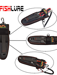 cheap -Afishlure Fishing Tool Bag Portable Lure Bag Multifunctional Pocket Put Fish Grips and Fishing Pliers Black
