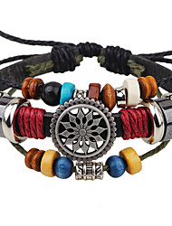 cheap -Leather Bracelet Ladies Unique Design Vintage Party Work Leather Bracelet Jewelry Black For Party Gift Valentine