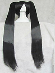 cheap -Cosplay Costume Wig Synthetic Wig Straight Straight Wig Black Synthetic Hair Black