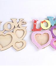 Недорогие -РОМАТИК полые любовные письма деревянные фоторамки поделки фоторамка арт декор
