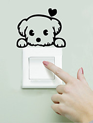 cheap -Landscape Animals Wall Stickers Animal Wall Stickers Light Switch Stickers, Vinyl Home Decoration Wall Decal Wall Decoration