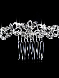 cheap -Women's Elegant Crystal Imitation Diamond Silver Hair Combs Wedding Party