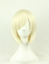 cheap -Synthetic Wig Cosplay Wig Straight Style Wig Blonde Blonde Synthetic Hair Blonde Wig Short