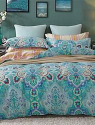 cheap -Novelty Duvet Cover Sets 4 Piece Cotton Pattern Reactive Print Cotton Queen King 1pc Duvet Cover 2pcs Shams 1pc Flat Sheet