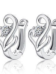 cheap -Women's Hoop Earrings Ladies Birthstones Sterling Silver Silver Earrings Jewelry Silver For Wedding Party Daily Casual
