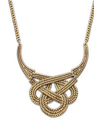 cheap -Women's Statement Necklace Pearl Necklace Interwoven Necklace Knot Statement European Fashion Cute Pearl Alloy Gold Silver Necklace Jewelry For Party