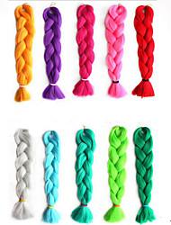 cheap -24 Inch Single Color Synthetic Hair Extension Crochet Twist Jumbo Braiding  Hair