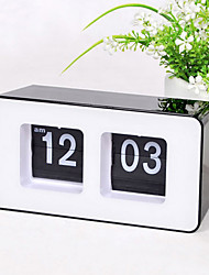 cheap -Retro Auto Flip Wall Clock Stylish AM/ PM Format Display Timepiece Home Decor
