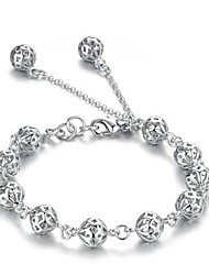 cheap -Women's Chain Bracelet Heart Love Unique Design Fashion Alloy Bracelet Jewelry Silver For Christmas Gifts Casual