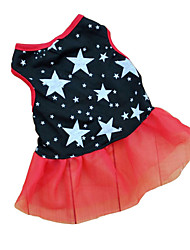 cheap -Cat Dog Dress Dog Clothes Black Costume Baby Small Dog Terylene Stars Casual / Daily XS S M L